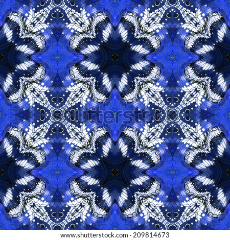 Butterfly, Beautiful seamless pattern made from butterfly wing - stock photo