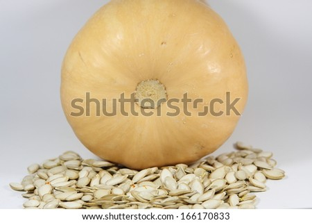 Butternut squash and seeds - stock photo