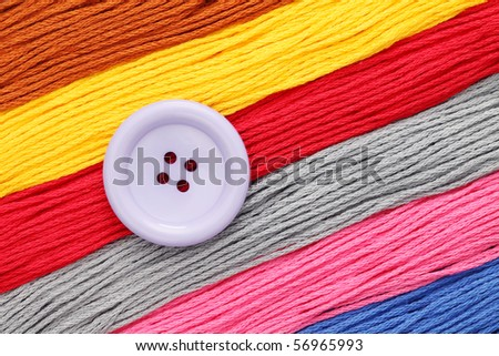 Button and Treads - stock photo