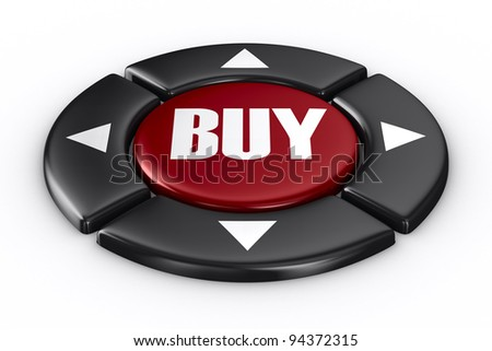 button buy on white background. Isolated 3D image - stock photo