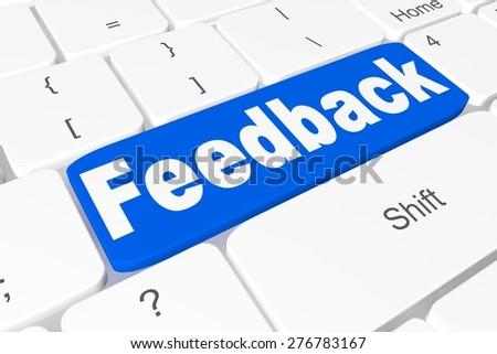 "Button ""feedback"" on keyboard - stock photo"