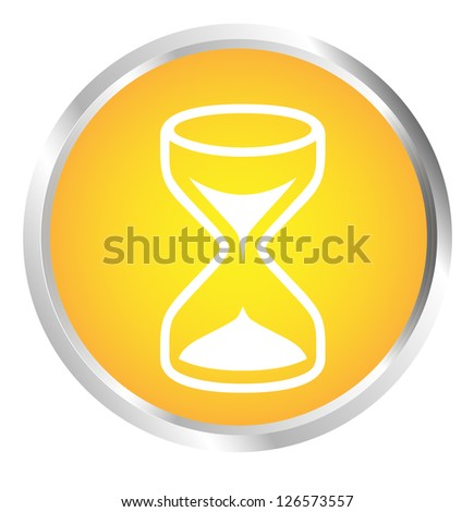 Button Hourglass - stock photo
