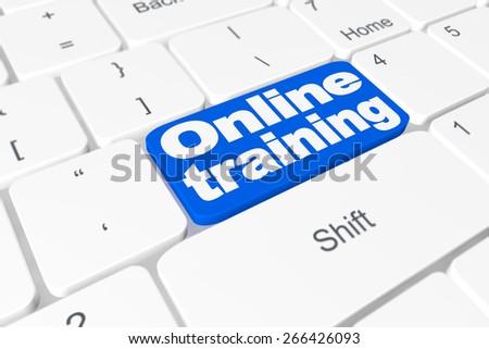"Button ""?nline training"" on keyboard - stock photo"