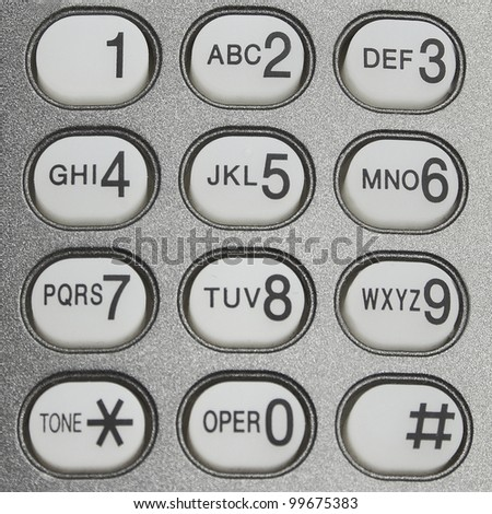 button of telephone concept background - stock photo