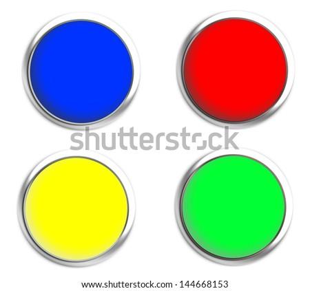 button on texture - stock photo