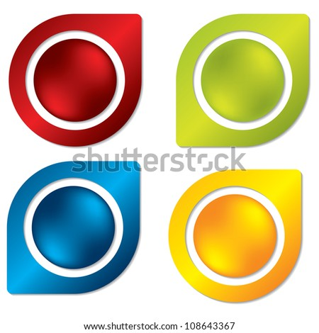 Buttoned labels - stock photo