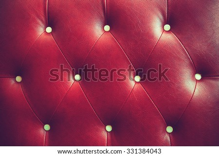 Buttoned on the red Texture vintage color - stock photo