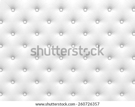 Buttoned white Texture. Repeat pattern. render 3D - stock photo