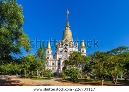 Buu Long pagoda at  Ho Chi Minh City, Vietnam, near Suoi Tien Theme Park - stock photo