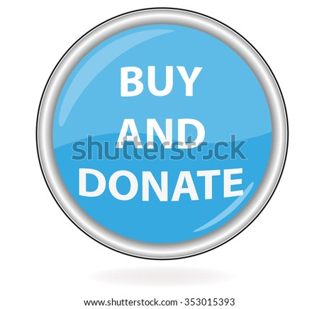 Buy and Donate button - stock photo