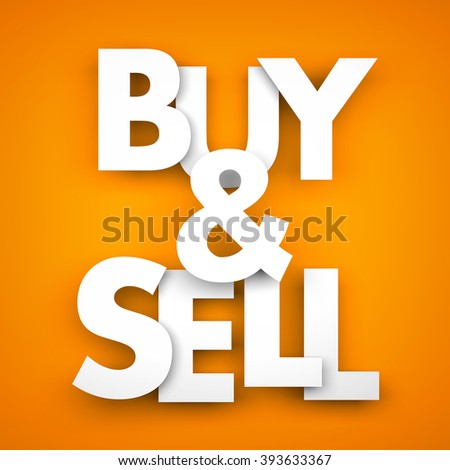 Buy and sell - stock photo