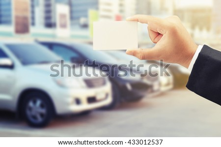 buy car with credit card concept background - stock photo