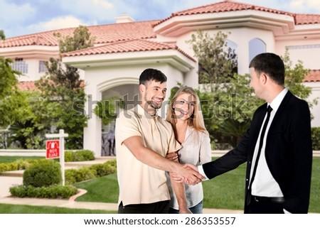 Buy, home, agent. - stock photo