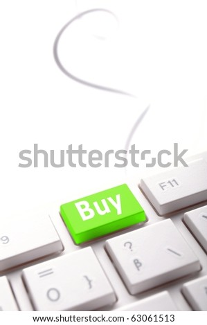 buy key showing internet commerce or online shop concept - stock photo