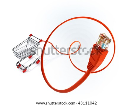 Buy on line - stock photo