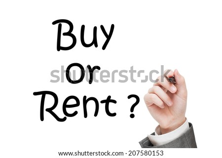Buy or Rent question.  real estate concept - stock photo