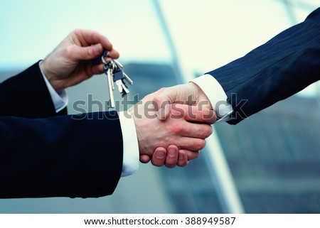 Buying a real estate - stock photo