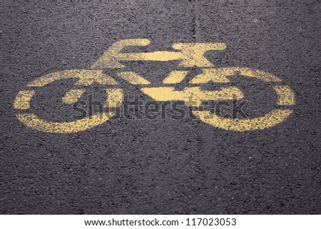 bycicle road sign - stock photo