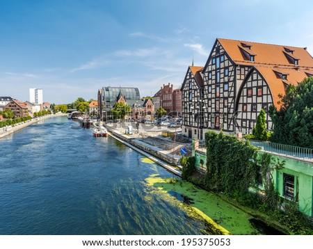 Bydgoszcz Canal in Bydgoszcz, Poland - stock photo