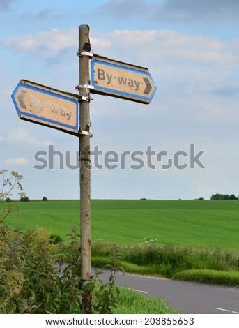 Byway Sign - stock photo