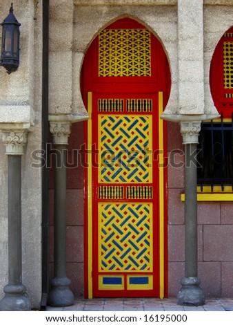 Byzantine style,villa Zorayda St. Augustine, Florida - stock photo