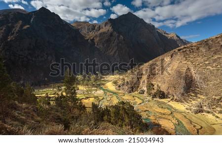 Ca�±ete valley in Huancaya, Lima, Peru - stock photo