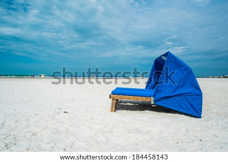 Cabana along popular Fort Myers Beach on the west coast of Florida. - stock photo