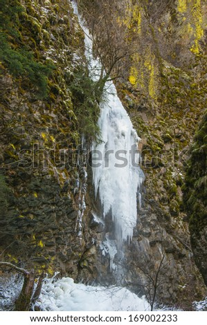 Cabin Creek Falls, Oregon - stock photo