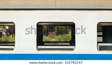 cabin of the train as the train speed limit in the cabin. - stock photo