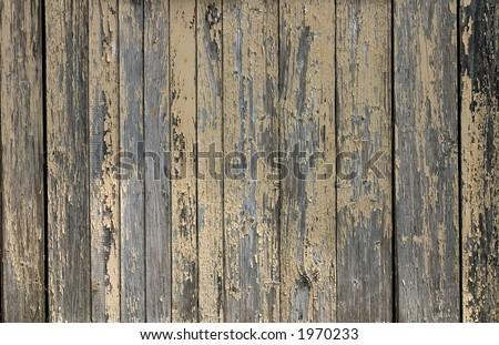 Cabin wall, Port of Biganos, Gironde, France - stock photo