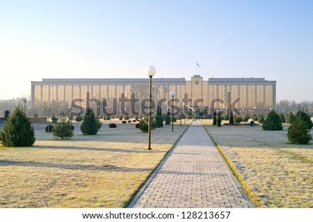 Cabinet of Ministers of republic of Uzbekistan - stock photo