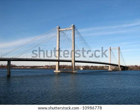 Cable Bridge - stock photo