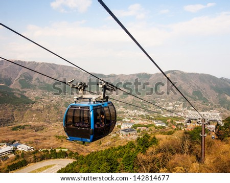 cable car at Gora, Hakone, Japan - stock photo