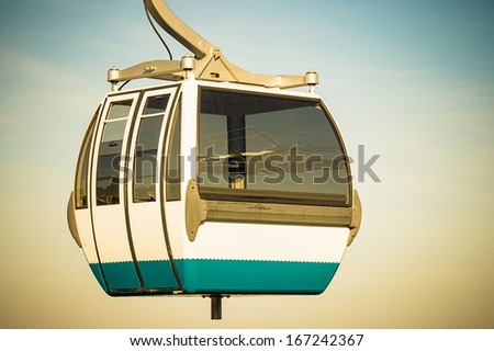 Cable car in Expo district, Lisbon, Portugal  - stock photo