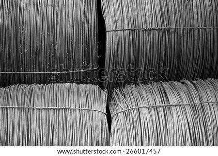 cable factory - stock photo