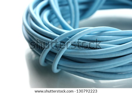 Cable, isolated on white - stock photo