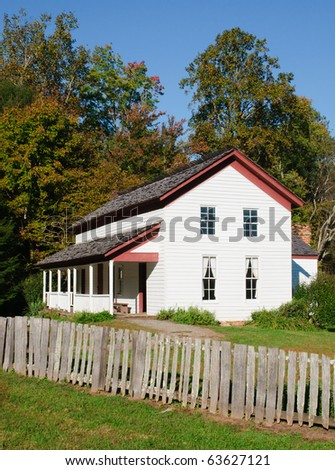 Cable Mill farmstead, Cade's Cove, Great Smoky Mountains National Park - stock photo