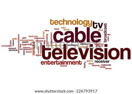 Cable television word cloud concept - stock photo