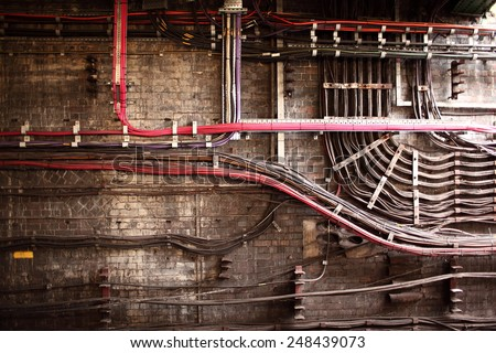 Cables mess - stock photo