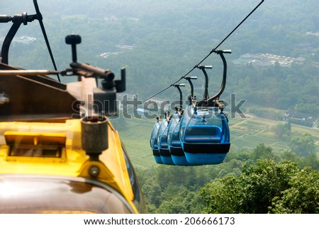 cableway transprt - stock photo