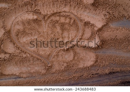 cacao powder - stock photo