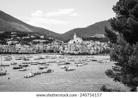 Cadaques in Girona, Catalonia, Spain - stock photo