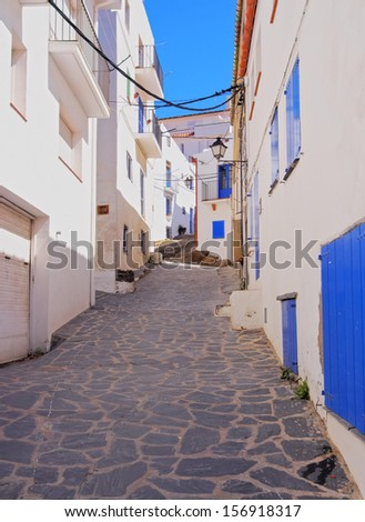 Cadaques - one of the most touristic towns of Costa Brava, Catalonia, Spain - stock photo