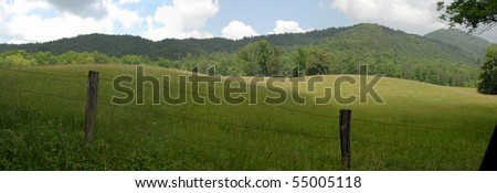Cades cove panorama - stock photo