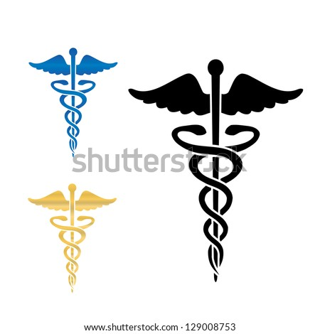 Caduceus medical symbol . - stock photo
