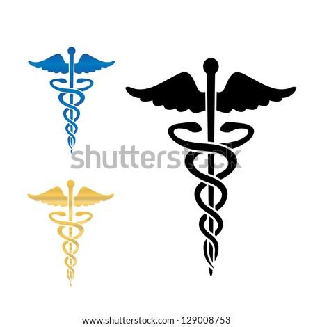 Caduceus medical symbol . - stock photo