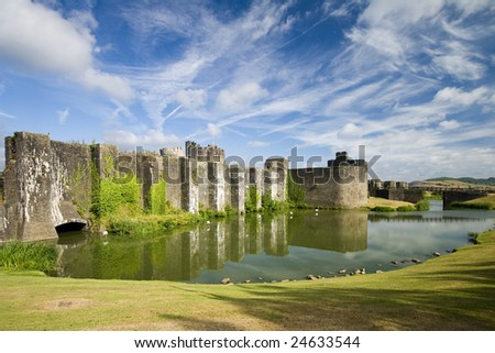 Caerphilly Castle - stock photo