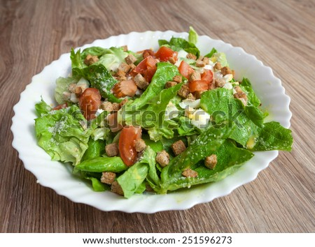Caesar chicken salad  - stock photo