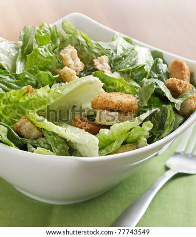 Caesar salad closeup - stock photo