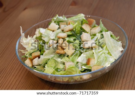 Caesar Salad, healthy with chicken and parmesan - stock photo